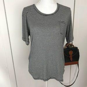 Brandy Melville short sleeve striped shirt